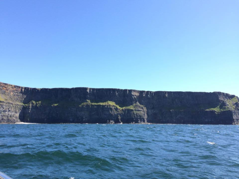 cliffs of moher photo from tour vessel