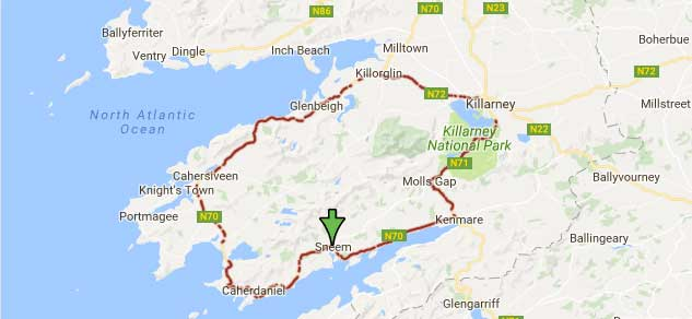 Image result for ring of kerry map