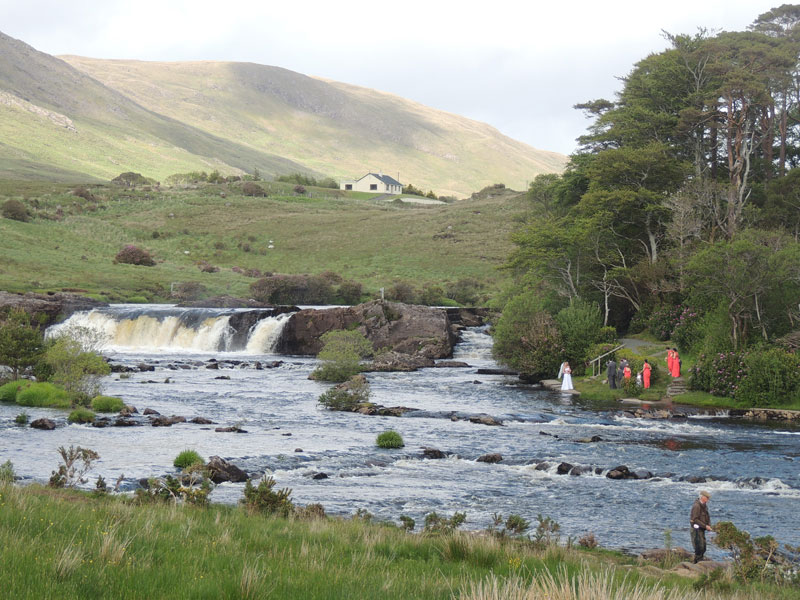 leenane waterfall connemara