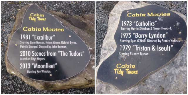 film stone at cahir castle