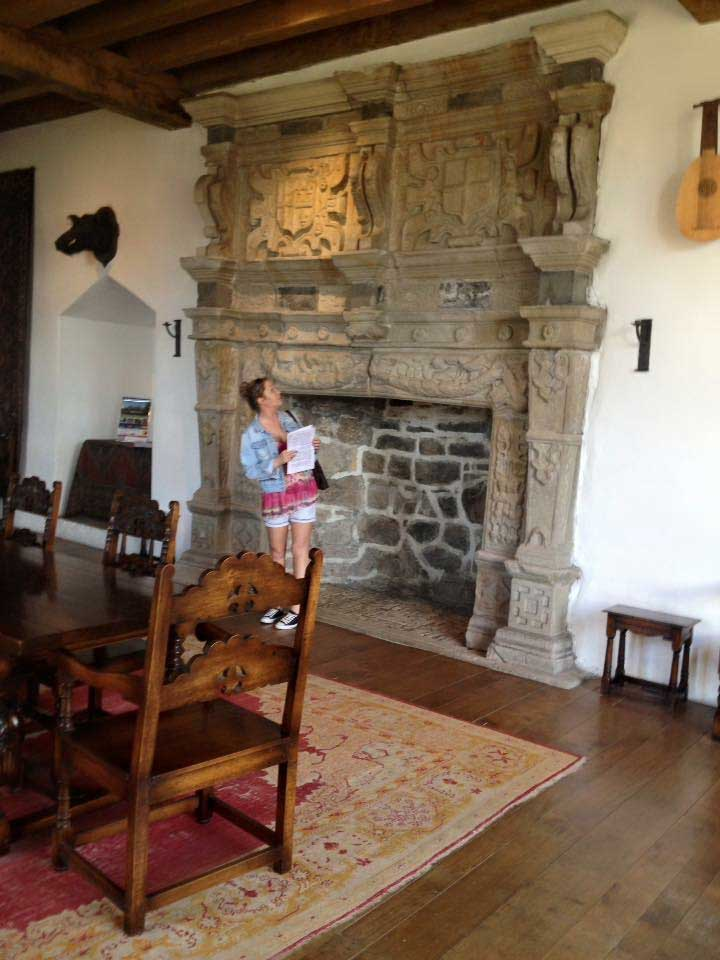 fireplace inside donegal castle