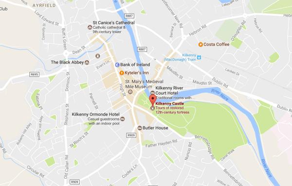 kilkenny castle map