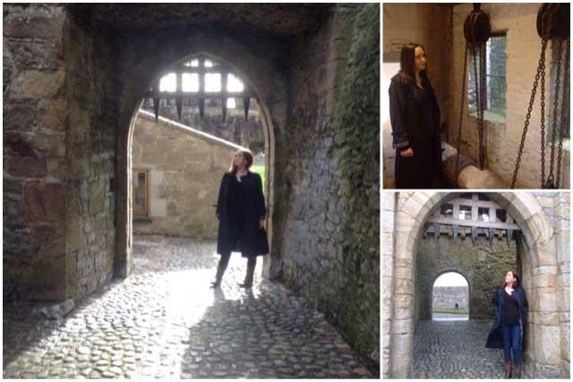 sinead visiting cahir castle
