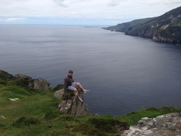 sitting on the edge of the slieve leagues