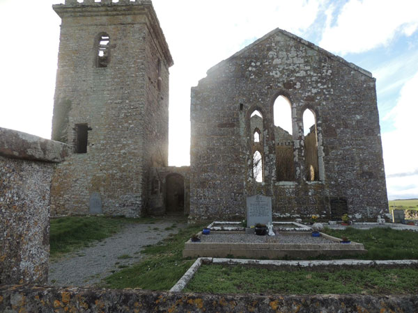outside view of templars church wexford