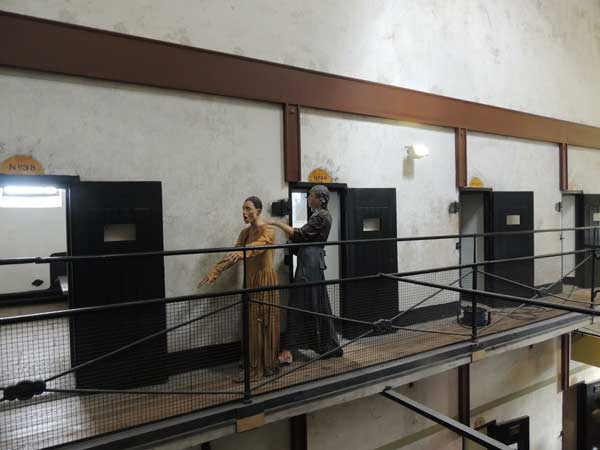 prisoners and cells in historic prison