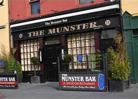 front entrance of the munster bar