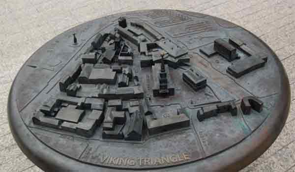 viking triangle surrounds the city of Waterford