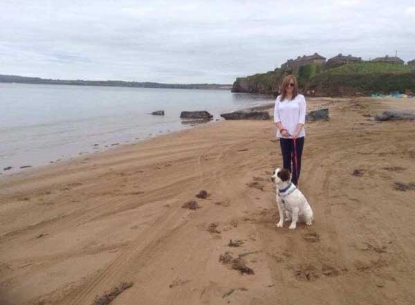 sinead Murphy on Duncannon beach