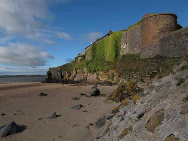 view of Duncannon fort on the beach